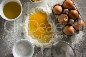 Egg yolk mixed with flour