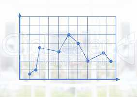 Grid chart points with bright background