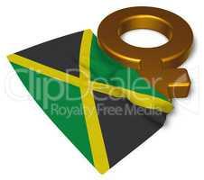 venus symbol und flagge von jamaika