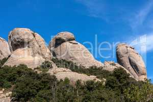 View of Montserrat mountains (Barcelona,Catalonia,Spain)
