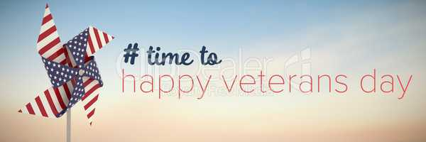 Composite image of logo for veterans day in america hashtag