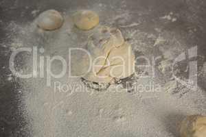 Dough and flour