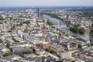 Stadtansicht von Frankfurt am Main, Deutschland