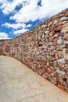 Tilt-shift effect in a long brickwall