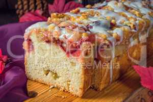 delicious yeast cake with plums