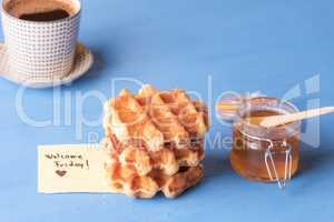Sweet snack and welcome Friday note