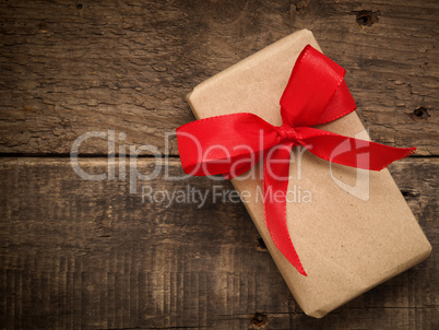 Gift box with a red bow