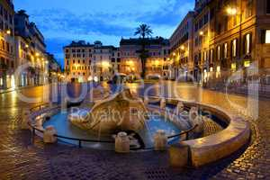 Fountain Barcaccia in Rome