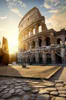 Great Colosseum in morning