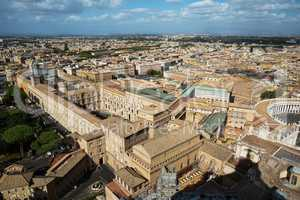 A view of the Sistine Chapel and the Vatican Museums .