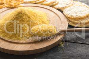 Corn flour and products from it