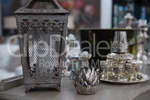 Variety of lamp on table