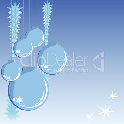 Blue christmas with decorations