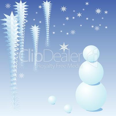 Blue Christmas snowman