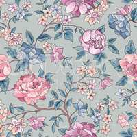 Floral seamless pattern. Flower background. Ornamental garden fl