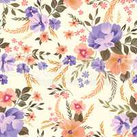 Floral seamless pattern. Flower background. Ornamental garden fl