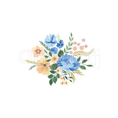 Floral frame pattern. Flower bouquet background. Greeting card d