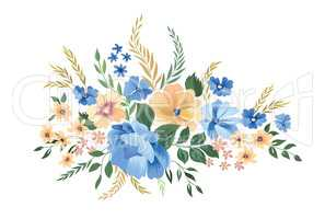 Floral frame pattern. Flower bouquet background. Greeting card d