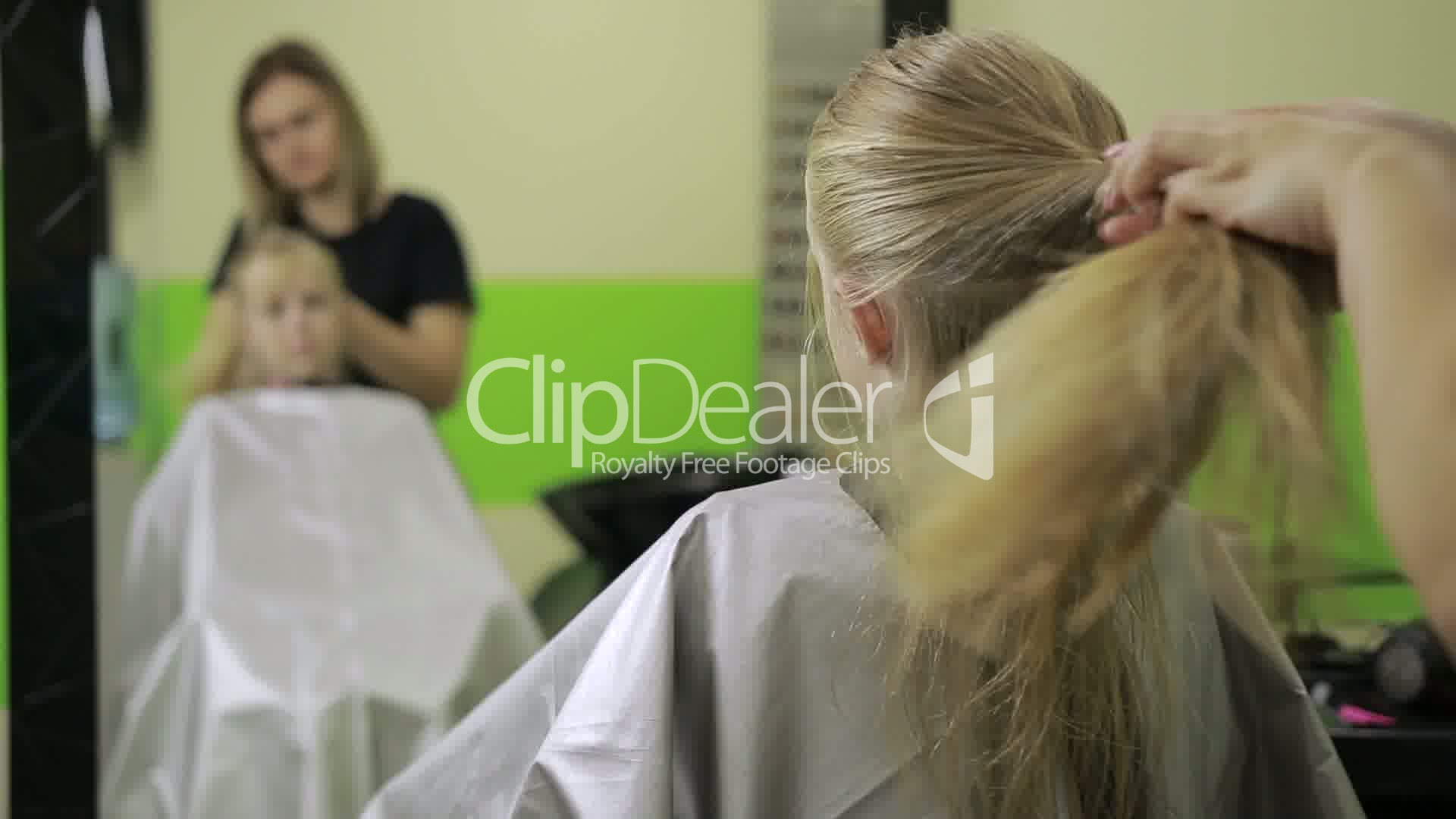 Lovely Little Girl At Professional Barber Salon Royalty Free Video