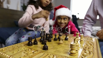Chess game for clever minds on winter holidays