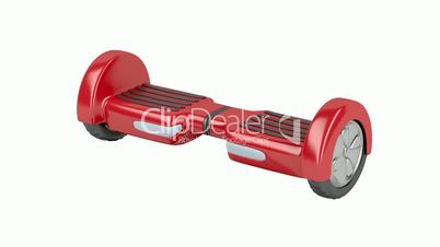 Red self-balancing scooter