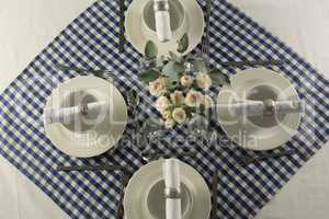 Elegance table setting on a table