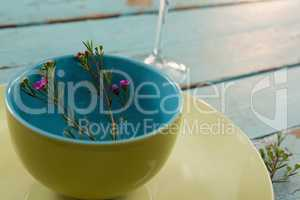 Flora decoration on table setting