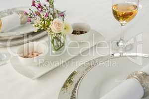 Beautiful table setting for an occasion