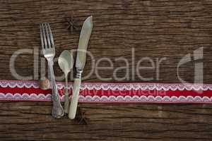 Cutlery with star anise and nutmeg