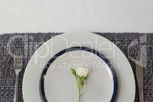 Overhead of elegance table setting
