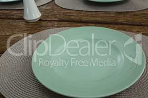 Empty plate on a placemat