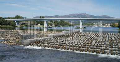 Brücke über den Rio Lima, Ponte de Lima, Camino de Santiago, Portugal