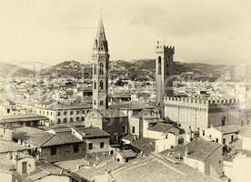 Florence Cityscape sepia