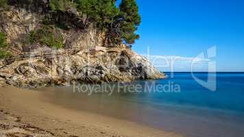 Nice detail of the Spanish coast in Costa Brava, Sant Antoni de