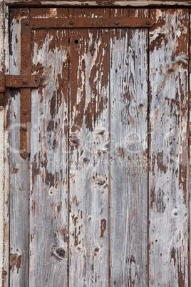 rostiges Scharnier Holztür