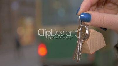 House keys as real estate symbol
