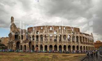 Beautiful photo of the Colosseum in Rome .