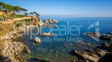 Nice detail of the Spanish coast in Costa Brava, Playa de Aro