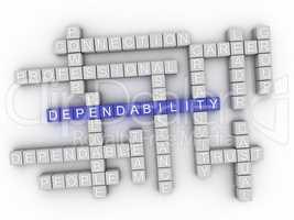 3d Dependability Concept word cloud