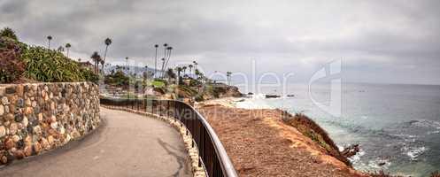 Overcast Summer sky over Heisler Park in Laguna Beach