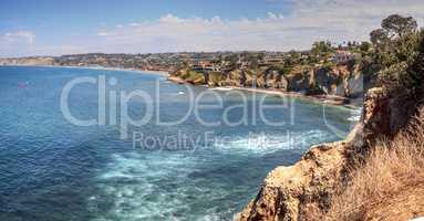 Coastline of La Jolla Cove in Southern California