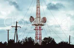 communication tower for cellular communications and broadcasting