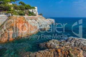 Nice detail of the Spanish coast in Costa Brava,