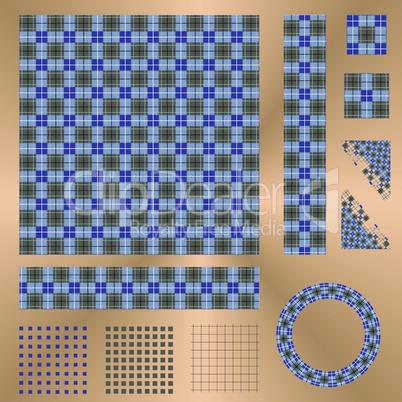 Irish square pattern set
