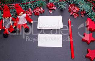 blank white paper business cards