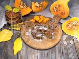 pumpkin muffins and fresh pumpkin