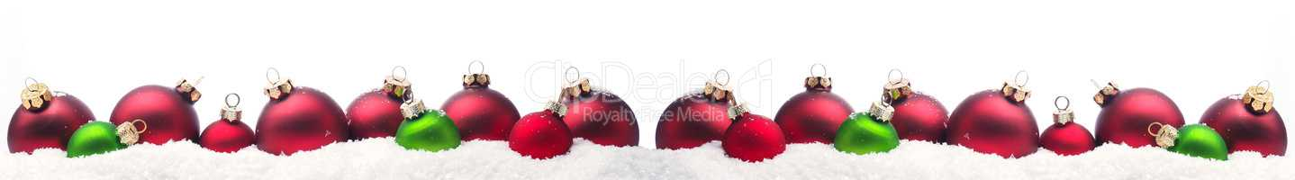 Christmas background with colorful Christmas baubles