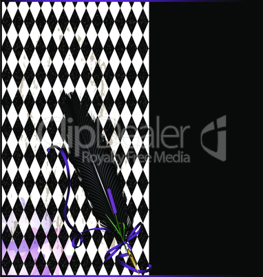 purple black background with pen