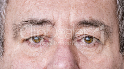 Clipping from the face of an elderly man