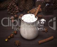 hot chocolate with white marshmallow
